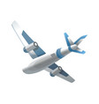airplane on white background airliner in bottom vector image vector image