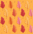 autumn leaves seamless background fall vector image