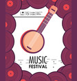 banjo instrument to music festival celebration vector image