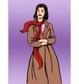 Beautiful woman coats winter autumn vector image