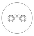 binoculars icon black color in circle or round vector image vector image