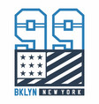 bklyn new york vector image vector image