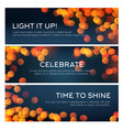 bokeh banner of blurred golden lights copy space vector image