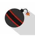Bomb ready to explode icon flat style vector image vector image