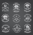 chalkboard death pirate logos vector image vector image
