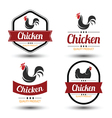 chicken label 2 vector image vector image