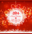 Christmas ball on a red background vector image vector image