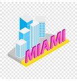 city of miami isometric icon vector image vector image