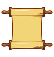 color image a papyrus roll icon on a white vector image vector image