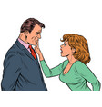 couple quarreling woman and man husband and wife vector image vector image
