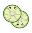 cucumber slice icon vector image vector image