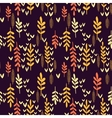 Decorative seamless autumn pattern vector image vector image