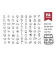 doodle style big icons set vector image