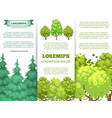 eco banner template - forest banners with colorful vector image vector image