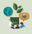 education and training on global warming eco vector image vector image
