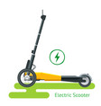 electric scooter on road electric scooter vector image vector image
