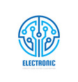 electronic technology - logo template vector image vector image