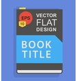 Flat book icon vector image