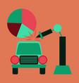 flat icon on stylish background automotive vector image vector image