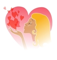Flying Kiss vector image