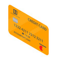 golden credit card icon isometric style vector image vector image