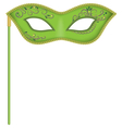 Green mask on stick vector image vector image