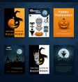 halloween backgrounds collection vector image