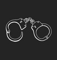 handcuffs hand drawn vector image vector image