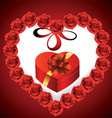 Heart from roses vector image vector image