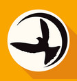 icon dove of peace on white circle with a long vector image vector image