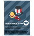independence day color isometric poster vector image