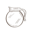 isolated coffee pot sketch vector image