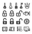 keylock icon vector image vector image