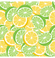 Lemon and lime lemonade green seamless pattern vector image vector image