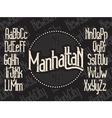 Manhattan font set vector image vector image
