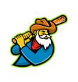 miner baseball player mascot vector image vector image