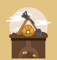 mining equipment mineral extraction vector image