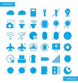 mobile function blue icons set style vector image vector image