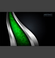 modern abstract green tech with silver line