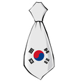 necktie in national colours of South Korea vector image