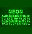 neon font city neon green font eps vector image vector image