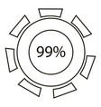 ninety nine infographics outline style vector image vector image