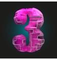 pink plastic figure 3 vector image vector image