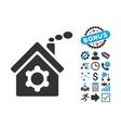 Plant Building Flat Icon with Bonus vector image vector image