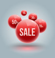 red balls group for sale vector image vector image