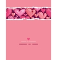 Red Valentines Day Hearts Vertical Torn Seamless vector image vector image