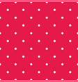 retro seamless pattern with small white polka dots vector image vector image