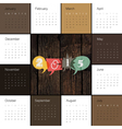 Retro styled calendar 2015 vector image vector image