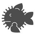 ruff fish solid icon sharp fish vector image vector image