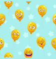seamless pattern with funny cartoon yellow vector image vector image